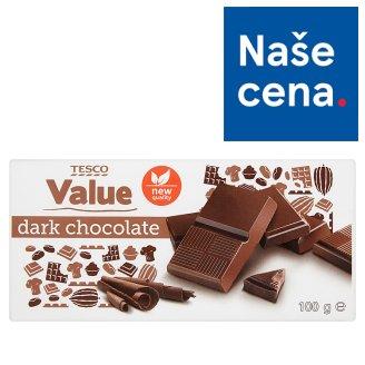 Tesco Value Dark Chocolate 100g