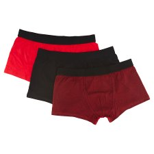 image 2 of F&F Men's Red-Black Boxers with Lowered Waist 3 pcs in Pack, XL, Multicolor Black