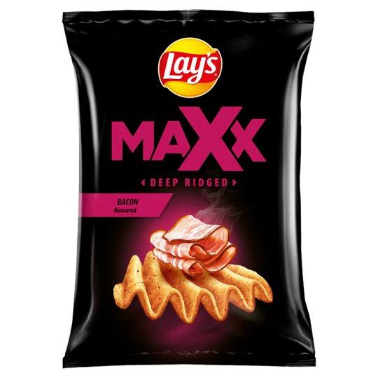 Lay's Maxx Smažené bramborové lupínky s příchutí slaniny 65g