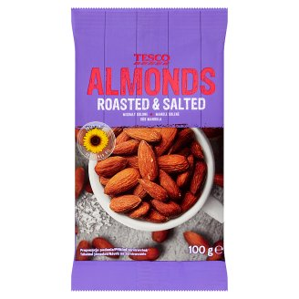 Tesco Almonds Roasted & Salted 100g