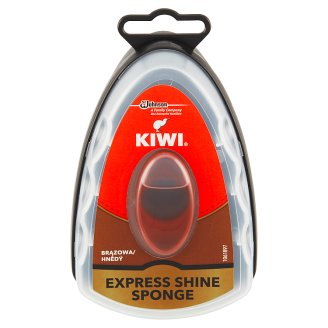 Kiwi Express Shine Sponge for Instant Shine Brown 7ml