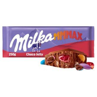 Milka Choco jelly mléčná čokoláda z alpského mléka s želé a praskajícími kuličkami 250g