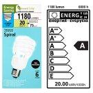 Tesco Greener Living Úsporná žárovka spirála E27 20W 220-240V
