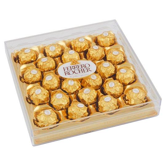 Ferrero Rocher Oplatky s polevou z mléčné čokolády a drcenými lískovými oříšky 300g