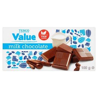 Tesco Value Milk Chocolate 100g