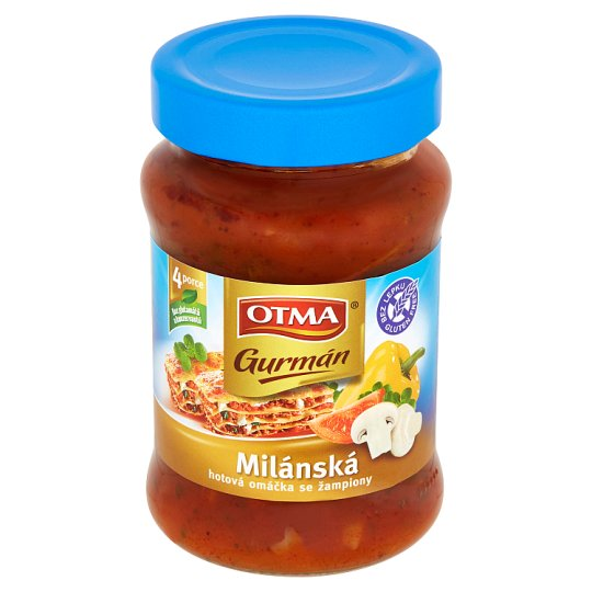 Otma Gurmán Milanese Sauce with Mushrooms 350g