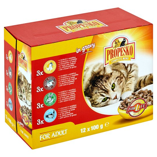 Propesko Complete Cat Food for Adult Cats 12 x 100g