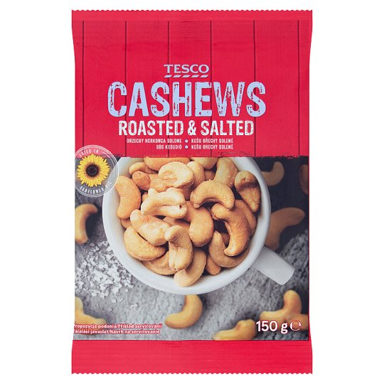 Tesco Cashews Roasted & Salted 150g