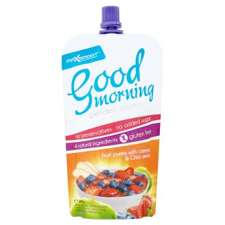 MaxSport Good Morning Fruit Puree with Cereals and Chia Seeds 200g
