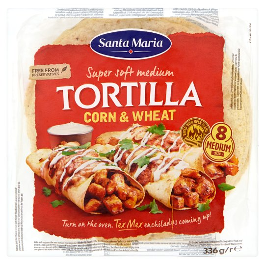 Santa Maria Wheat-Corn Tortilla Medium 8 pcs 336g
