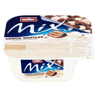 Müller Mix Choco Waffles Yoghurt Sweetened with Cream Flavor 150g