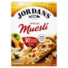 Jordans Special celozrnné cereálie s ovocem a ořechy 750g