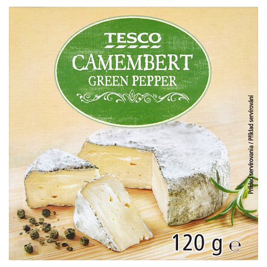 Tesco Camembert with Green Pepper 120g