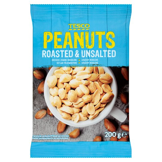 Tesco Peanuts Roasted & Unsalted 200g