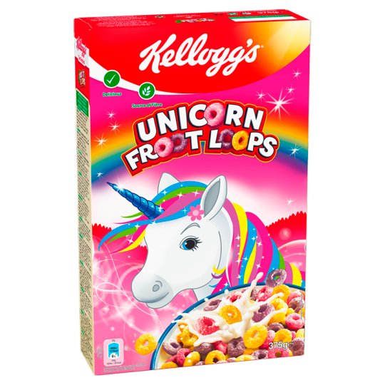 Kellogg's Rings Cereal with Fruit Flavor 375g