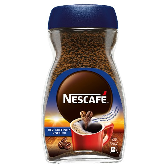 NESCAFÉ CLASSIC Bez kofeinu, instantní káva bez kofeinu, 100g