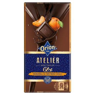 ORION Hořká čokoláda 68 % Meruňka se špetkou chilli 100g