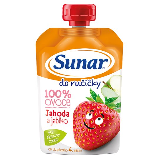 Sunárek Do Ručičky Apple Strawberry 100% Fruit 100g