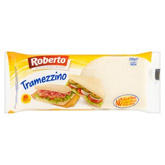 Roberto Tramezzino White Bread Wheat Sandwich without Crust 250g