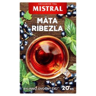 Mistral Aromatizovaný bylinně-ovocný čaj máta, citronová tráva s příchutí černého rybízu 20 x 1,5g