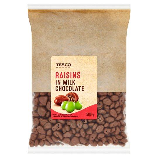 Tesco Rozinky v mléčné čokoládě 500g