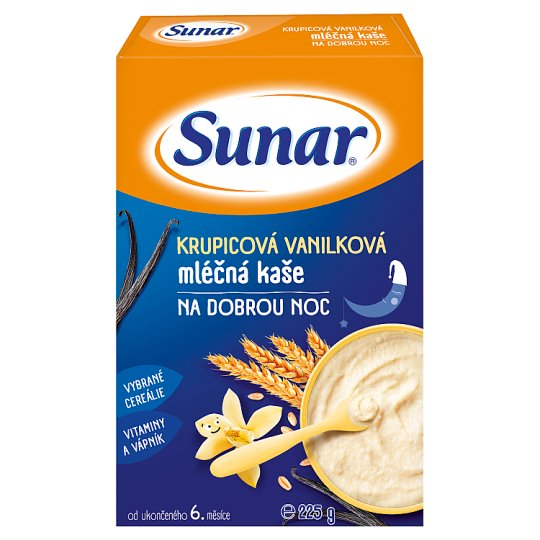 Sunárek Semolina Vanilla Milk Mash for Good Night 225g