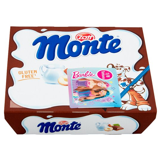 Zott Monte Milk Chocolate Dessert with Hazelnuts 4 x 55g