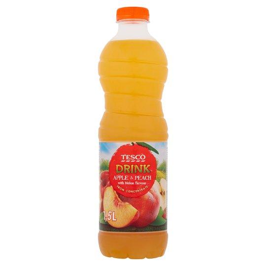 Tesco Nealkoholický nápoj jablečno-broskvový s příchutí melounu 1,5l