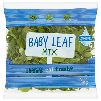 Tesco Eat Fresh Baby Leaf Mix 80g