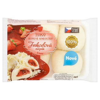 Tesco Yeast Dumplings with Strawberry Flavour 4 pcs 200g