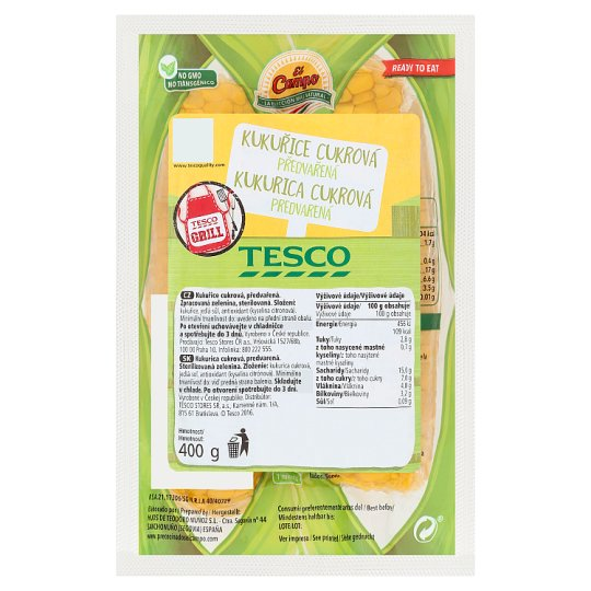 Tesco Grill Sweetcorn Precooked 400g