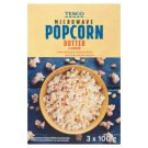 Tesco Popcorn Microwawe Butter Flavour 3 x 100g