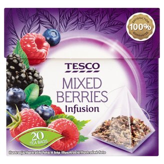 Tesco Mixed Berries ovocno-bylinný čaj 20 x 2,1g