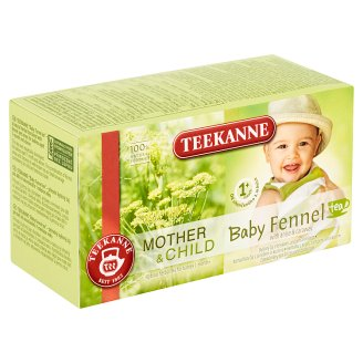 TEEKANNE Baby Tea 1+, Herbal Tea with, Anise and Caraway Seeds, 20 Bags, 36g