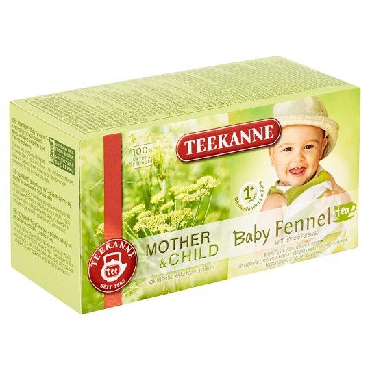 TEEKANNE Baby Tea 1+, Herbal Tea with, Anise and Caraway Seeds, 20 Bags, 36g