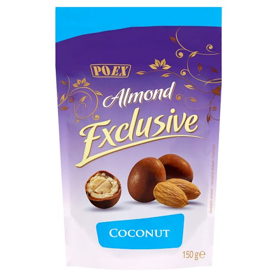 Poex Almond Exclusive Coconut Almonds in White and Milk Chocolate 150g