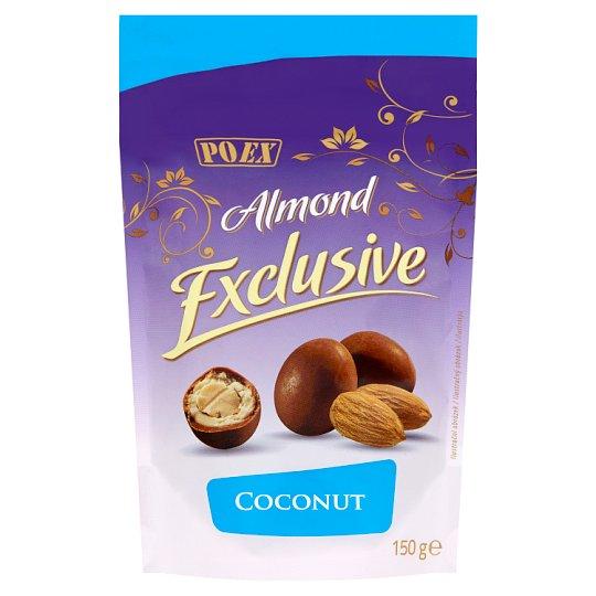 Poex Almond Exclusive Coconut mandle v bílé a mléčné čokoládě 150g