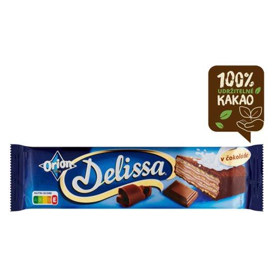 ORION Delissa oplatka s kakaovou náplní máčená v mléčné čokoládě 33g