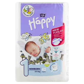 Happy 1 Newborn Disposable Diapers 2-5kg 42 pcs