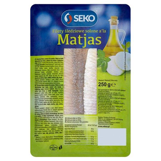 Seko Salted Herring Fillets a'la Matjas 250g