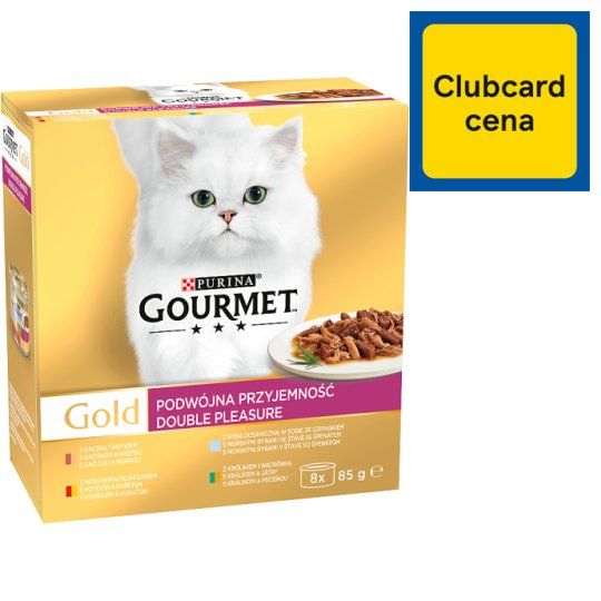 GOURMET Gold Double Pleasure Multipack 8 x 85g
