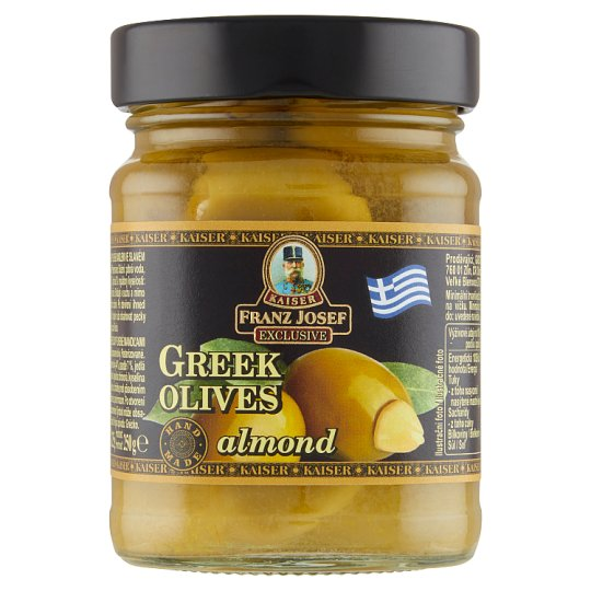 Kaiser Franz Josef Exclusive Greek Green Olives Stuffed with Almonds in Brine 250g