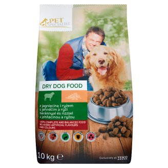 Tesco Pet Specialist Dry Dog Food with Lamb and Rice 10kg