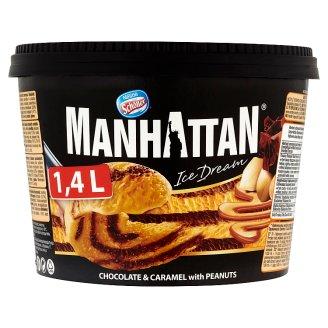 Manhattan Ice Dream Mražený krém čokoládovo-karamelový s kousky pražených arašídů 1400ml