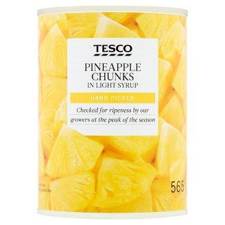 Tesco Kousky ananasu v mírně sladkém nálevu 565g