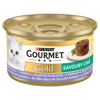 GOURMET Gold Savory Cake with Lamb and Green Beans 85g