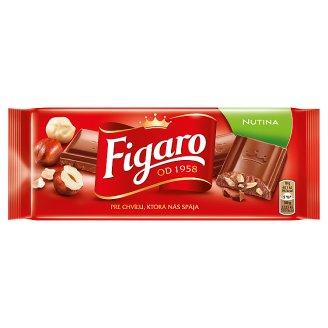 Figaro Nutina mléčná čokoláda s drcenými jádry lískových ořechů 90g