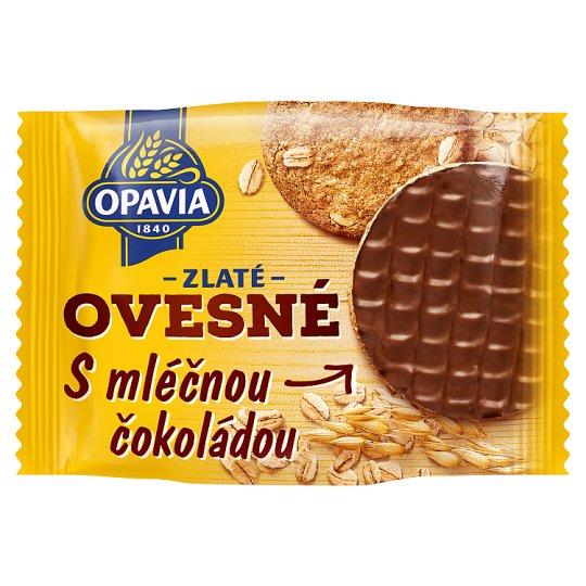 616f4bcb2 Opavia Zlaté Ovesné s mléčnou čokoládou 32,5g - Tesco Potraviny