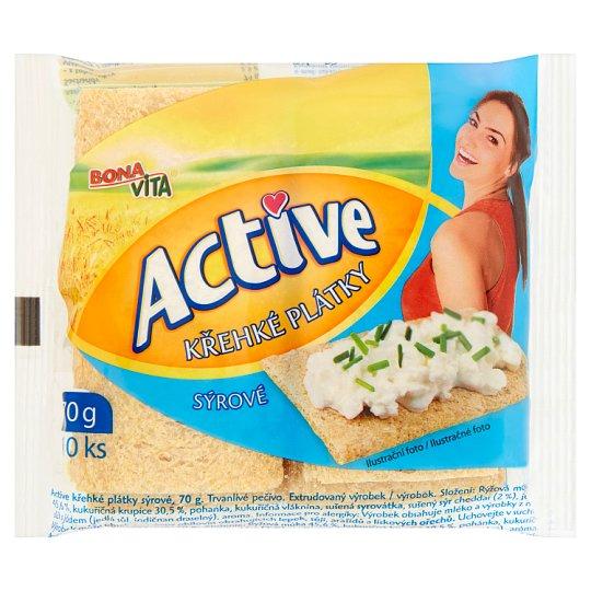 Bona Vita Active Křehké plátky sýrové 10 ks 70g