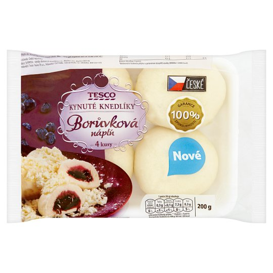 Tesco Yeast Dumplings with Blueberry Flavour 4 pcs 200g